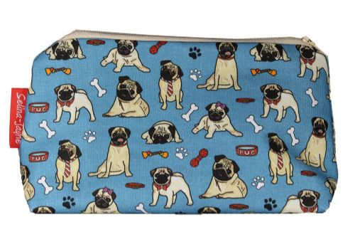 Selina-Jayne Pug Dog Limited Edition Designer Cosmetic Bag